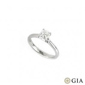 18k White Gold Cushion Cut Diamond Ring 1.00ct H/VS1